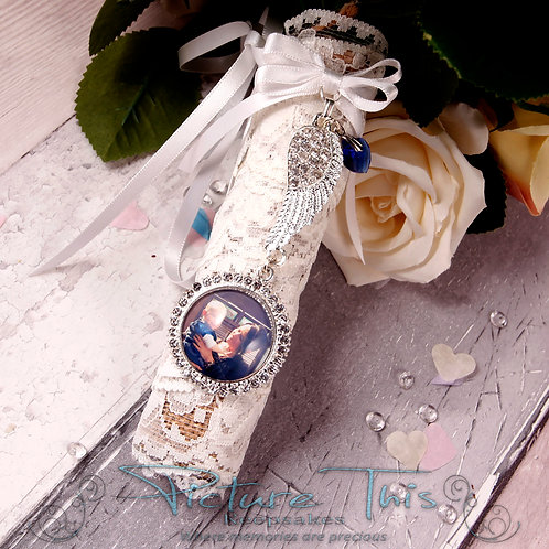 Angel Wing Bouquet charm