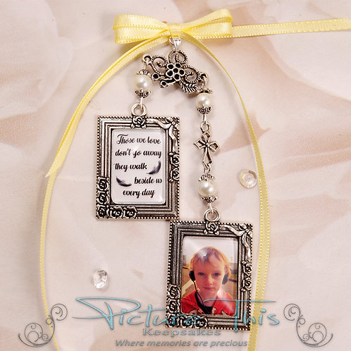 Double Picture Frame Bouquet Charm