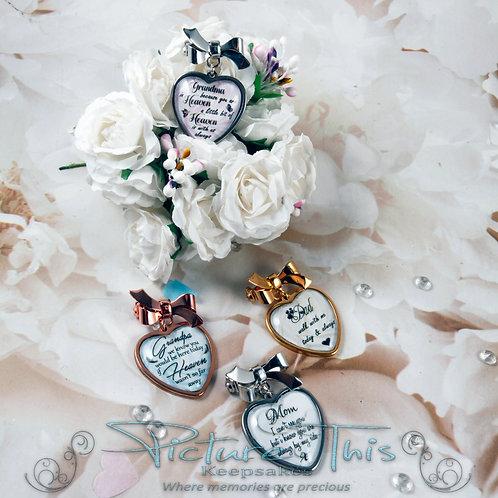 Heart Memorial Charm