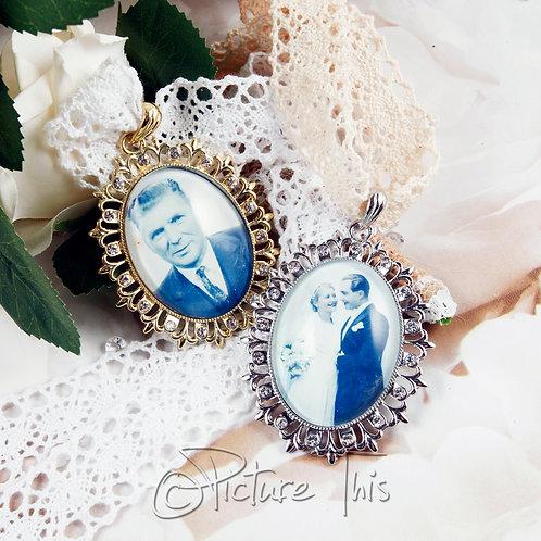 Fleur-De-Lis, Bridal Photo Charm