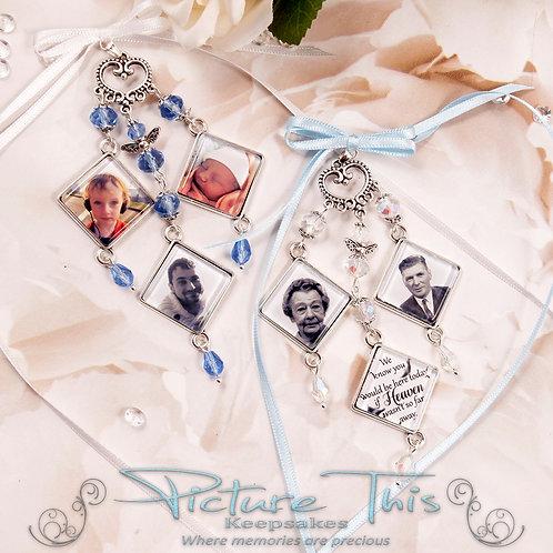 Triple Diamond Chandelier Bouquet Charm