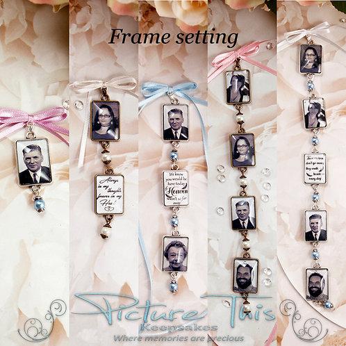 Picture Frame Bouquet Charm
