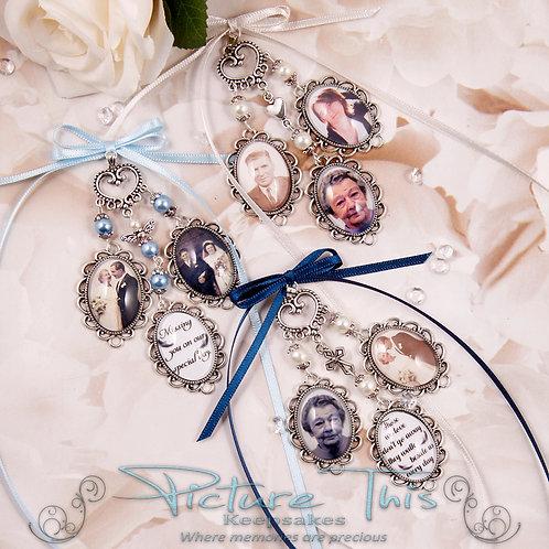Triple bouquet chandelier charm.