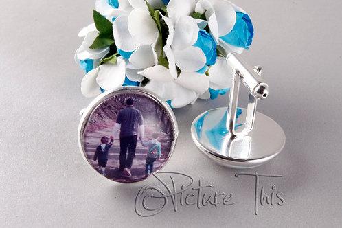 father's day cufflinks, Personalized Cufflinks, Custom Photo Cufflinks.