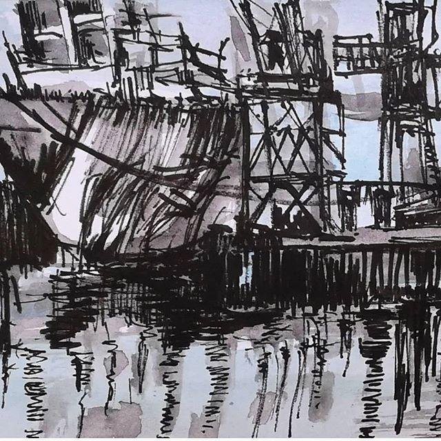 Sunderland Shipyards at Night