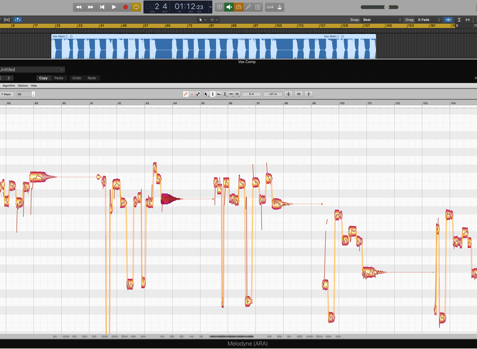 Melodyne Pro Vocal Tuning