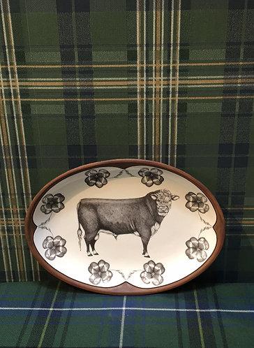 Hereford Bull Small Platter