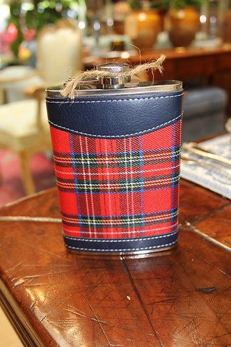 Scottish Plaid Flask