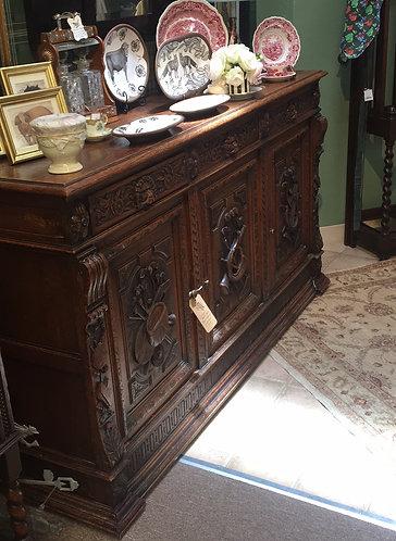Antique Black Forest Carved Sideboard c1800's