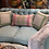 Thumbnail: Light Blue Linen Loveseat