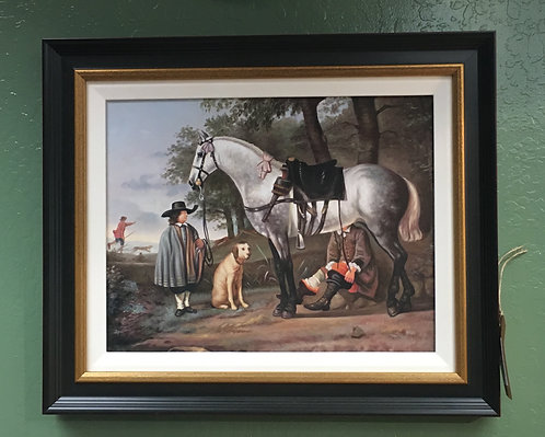 Oil Painting Horse and Dog