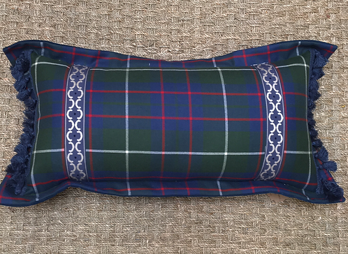 Blue Plaid Lumbar Pillow Tally Home Exclusive