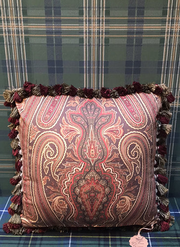 Tally Home Exclusive Paisley 20 inch Square Pillow