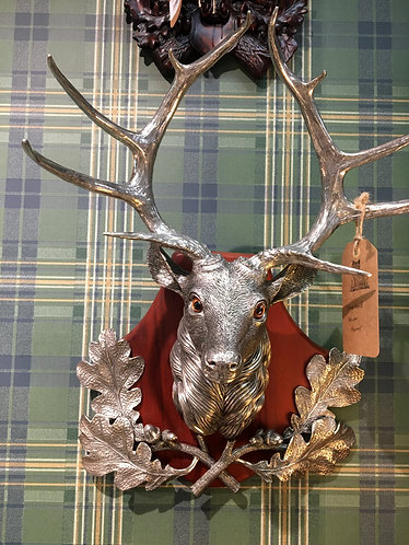 Pewter Stag Head Wall Mount