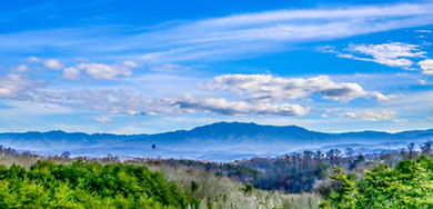 View of Mt. LeConte from the deck