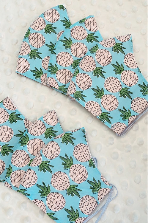 Keiki Blue Pineapples  Mask