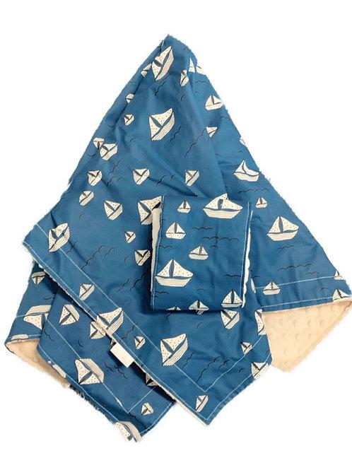 Set Sail Minky Blanket + Burpcloth