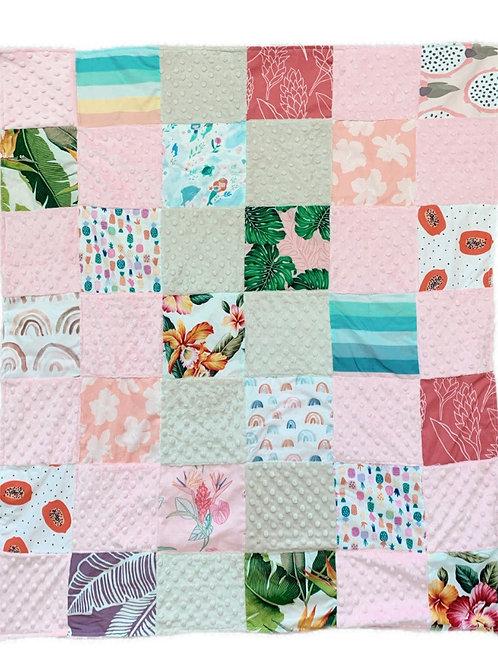 Aloha Quilt - pink/beige
