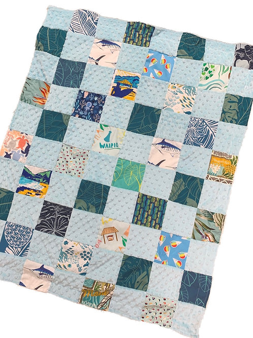 BB Quilted Minky Blanket - mint