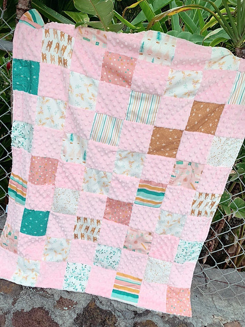 Quilted Minky Blanket Holiday Jingle BG