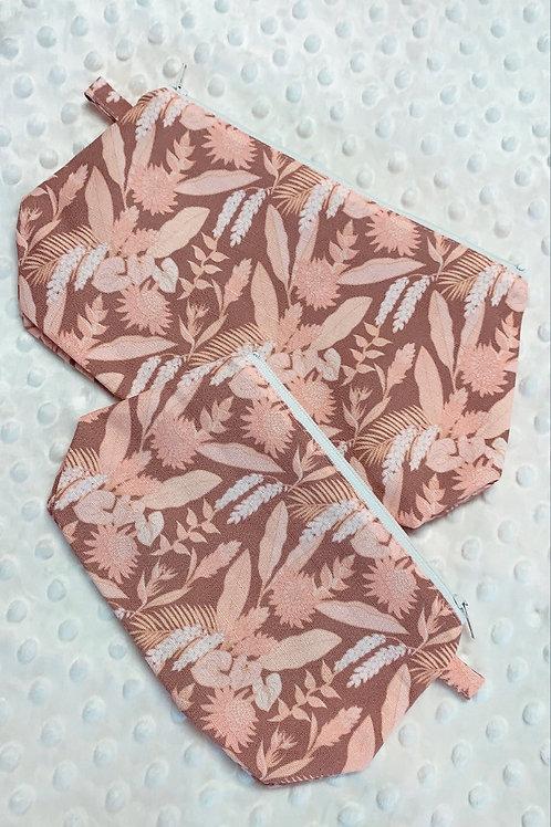 Summery Floral Zipper Pouches