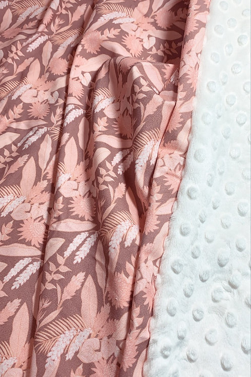 Minky Blanket - Summery Floral