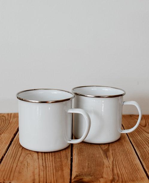 Enamel cups x2