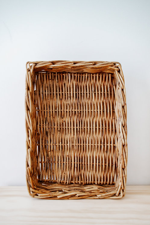 Wicker basket/tray