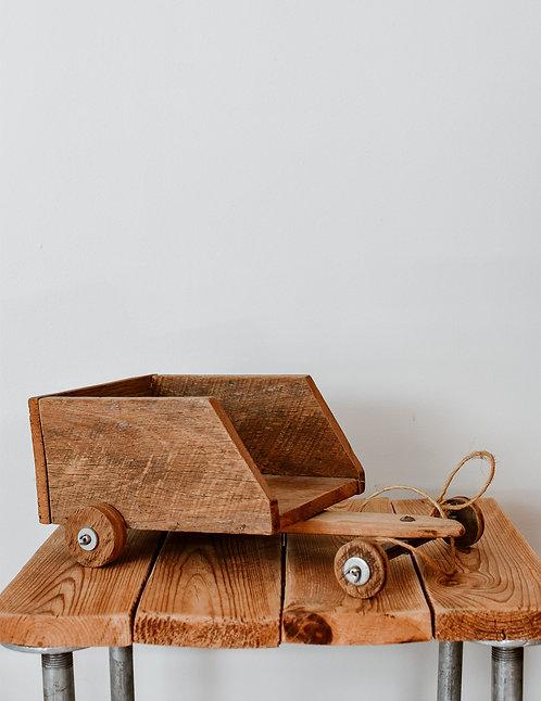 Vintage wooden trailer