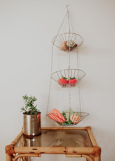 Hanging metal baskets