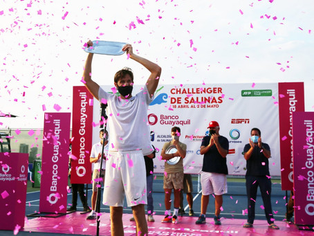 Jarry escaló 262 puestos en el ranking ATP tras su corona en Salinas I y es el nuevo cuatro de Chile