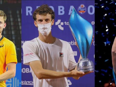 Juan Manuel Cerúndolo, David Goffin y Alexei Popyrin se coronaron campeones durante el fin de semana