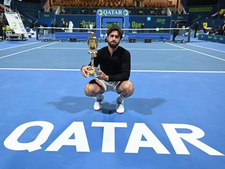 Basilashvili le arrebata el décimo título a Bautista Agut en la final del ATP 250 de Doha
