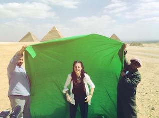 Magisk inspelning i Giza, Egypten.
