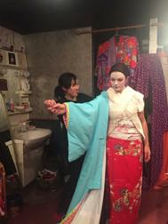 Inspelning i Japan! Blir förvandlad till Geisha
