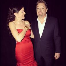 Eddie Izzard och jag, prisutdelare på Emmy Kids Award