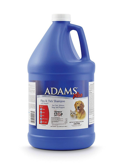 Adams Plus Flea and Tick Shampoo with Precor for Cats and Dogs 1 Gallon - 100503