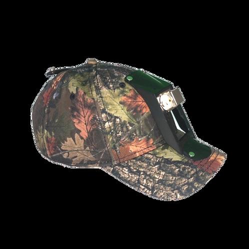 CAMO HARD SHELL CAP W/ LIGHT BRACKET