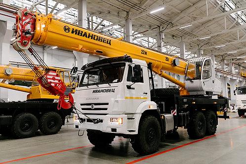 Автокран КС-45717К-3М на шасси КАМАЗ-43118 (22м)