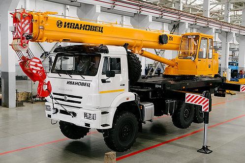 Автокран КС-45717К-3В на шасси КАМАЗ-43118 (21м)