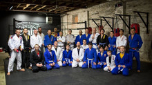 Cesar Pereira teaches seminar at black belt student's academy, promotes one more to black belt