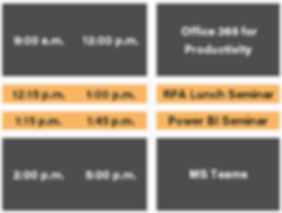 Event schedule from 9:00 AM to 5:00 PM