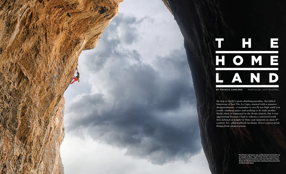 Ben Rueck Sicily, Rock & Ice, Climbing