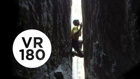 Chimney of Horrors   Yosemite Higher Spire Free, Part 1 (VR180)
