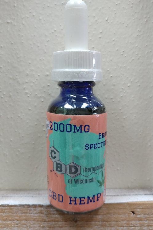 2000mg CBD Broad Spectrum Oil - 30ml Bottle