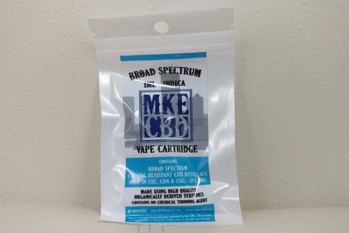 1000mg 1.0ml CBD Broad Spectrum Indica Vape Cartridge - No Battery