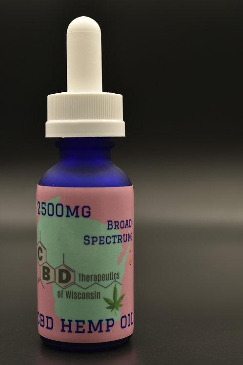2500mg CBD Broad Spectrum Oil - 30ml Bottle