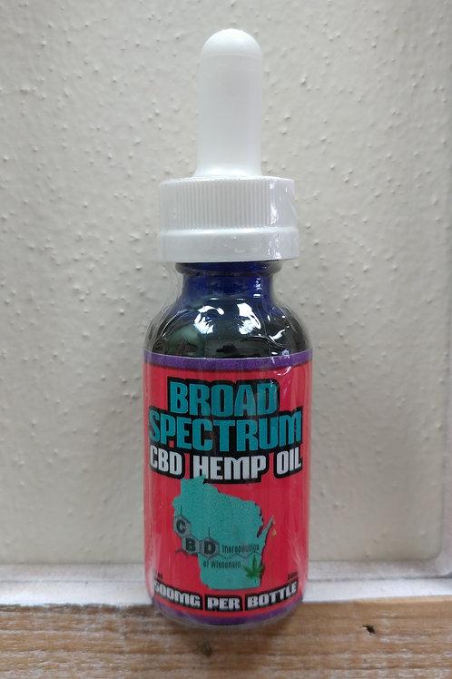 500mg CBD Broad Spectrum Oil - 30ml Bottle