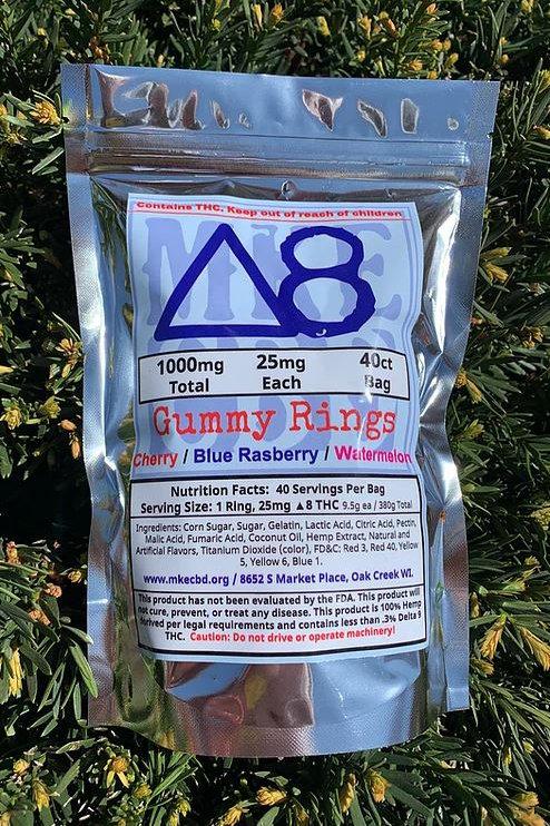 Delta 8 Gummy Rings - 1000mg 40 Count Bag