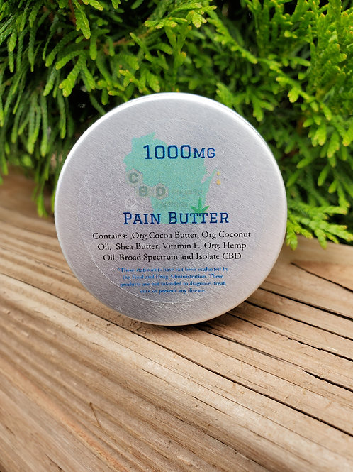 1000mg CBD Pain Butter - 1oz.